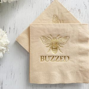 Buzzed Cocktail Napkins for a Baby Bee Baby Shower - Mama Bee